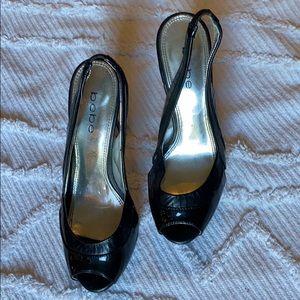 BEBE Peep Toe Heels - 7